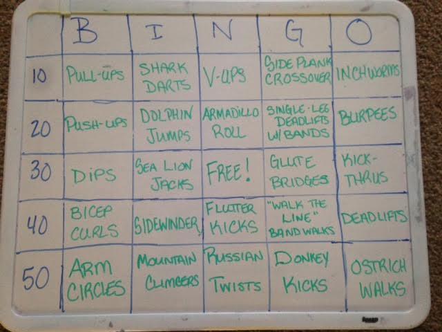 BINGO bootcamp board
