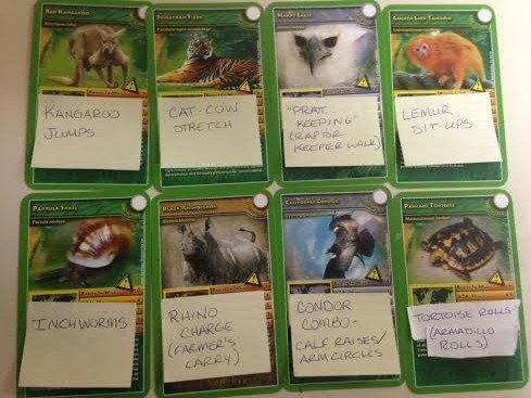 animal scavenger hunt cards