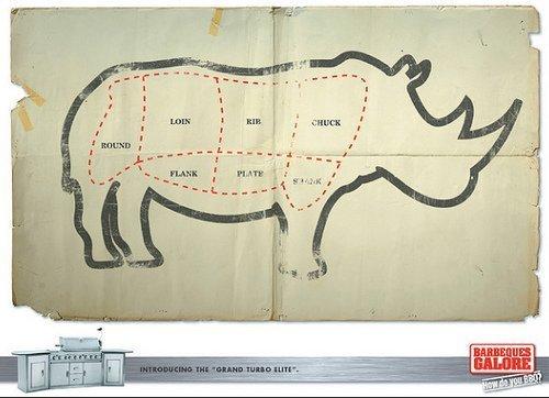 rhino meat cuts